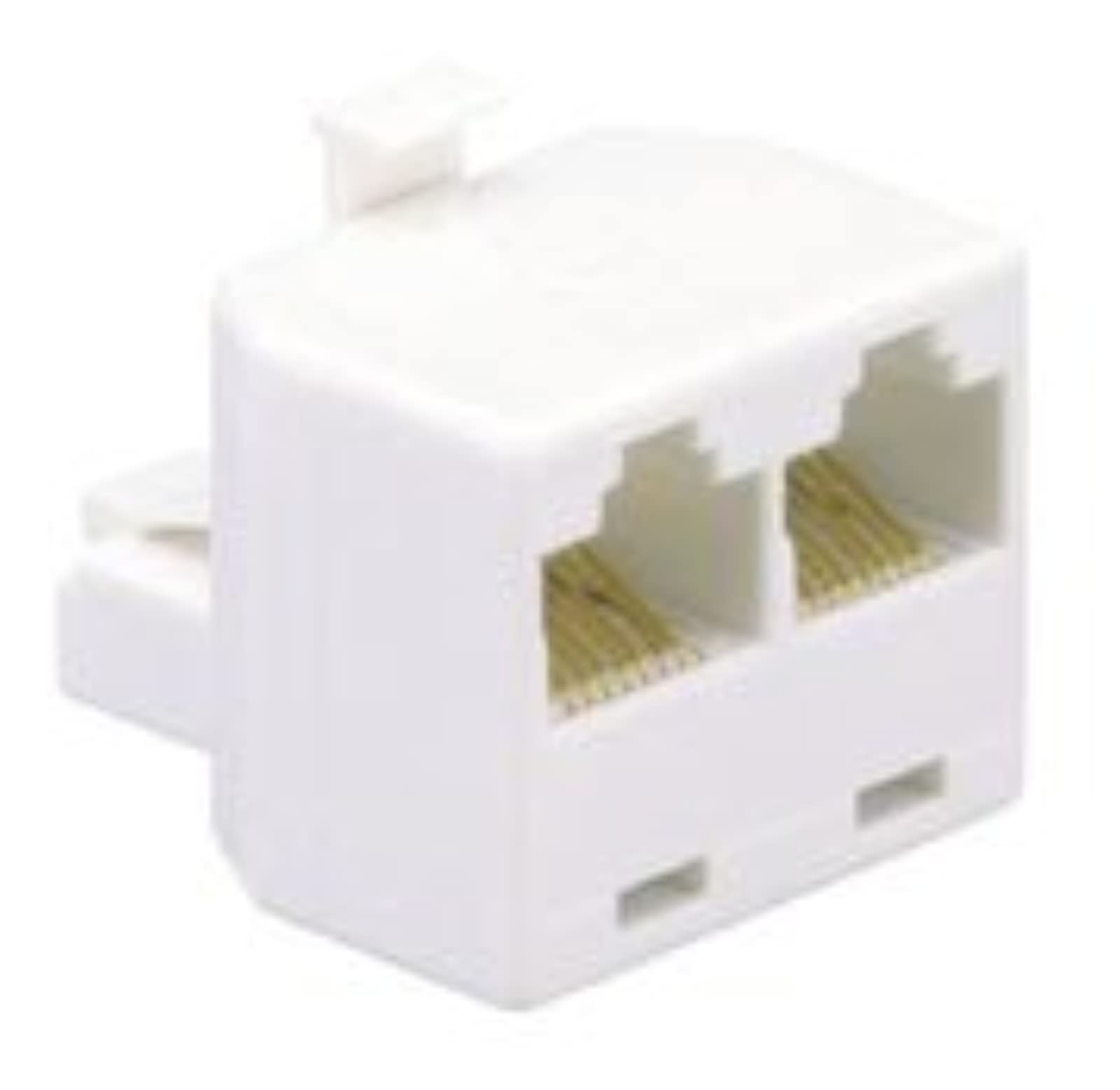 AT&T 91115 Four-Line Dual Outlet Adapter White Telephone 4