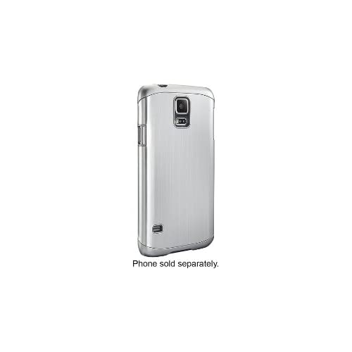 Image 0 of Dynex Case For Samsung Galaxy S 5 Cell Phones Brushed Silver Cover