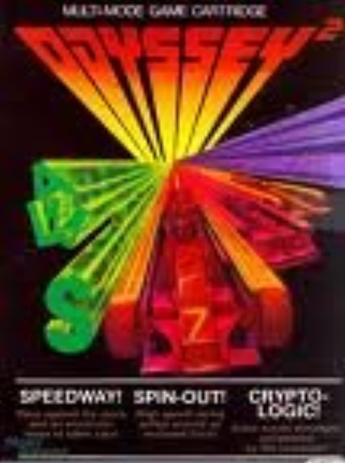 Speedway Spin-Out And Crypto-Logic Odyssey 2 For Odyssey 2
