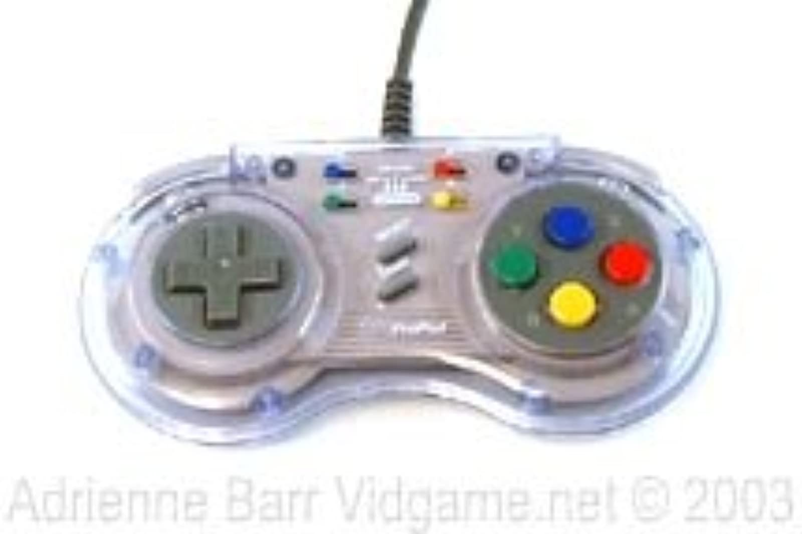 Sn Propad For Super Nintendo SNES Clear Gamepad WHA461