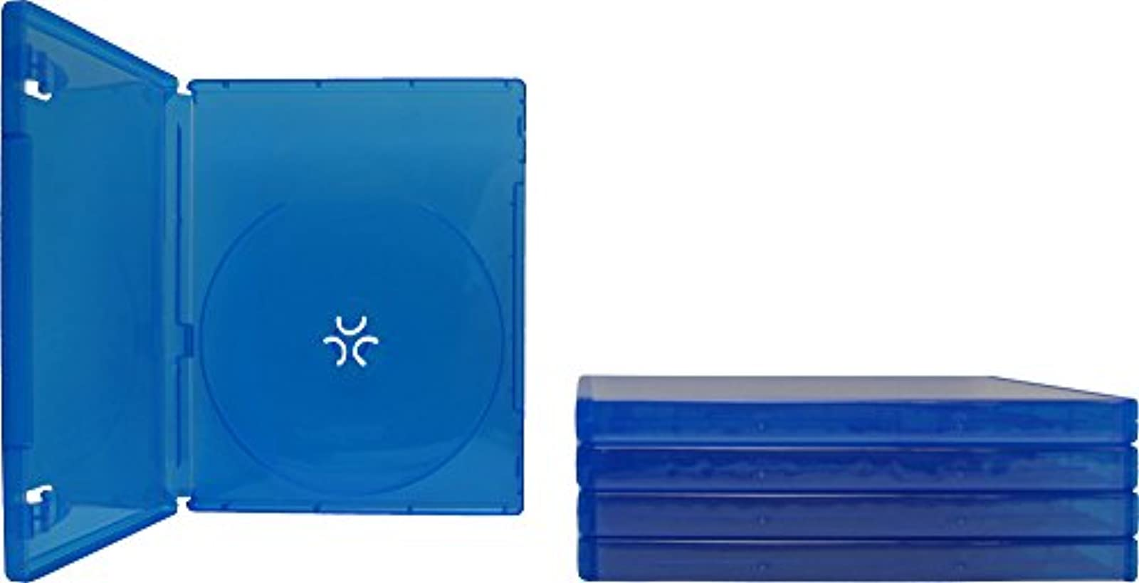 5 Blue PlayStation 4 Game Cases 1 Disc Capacity 14MM