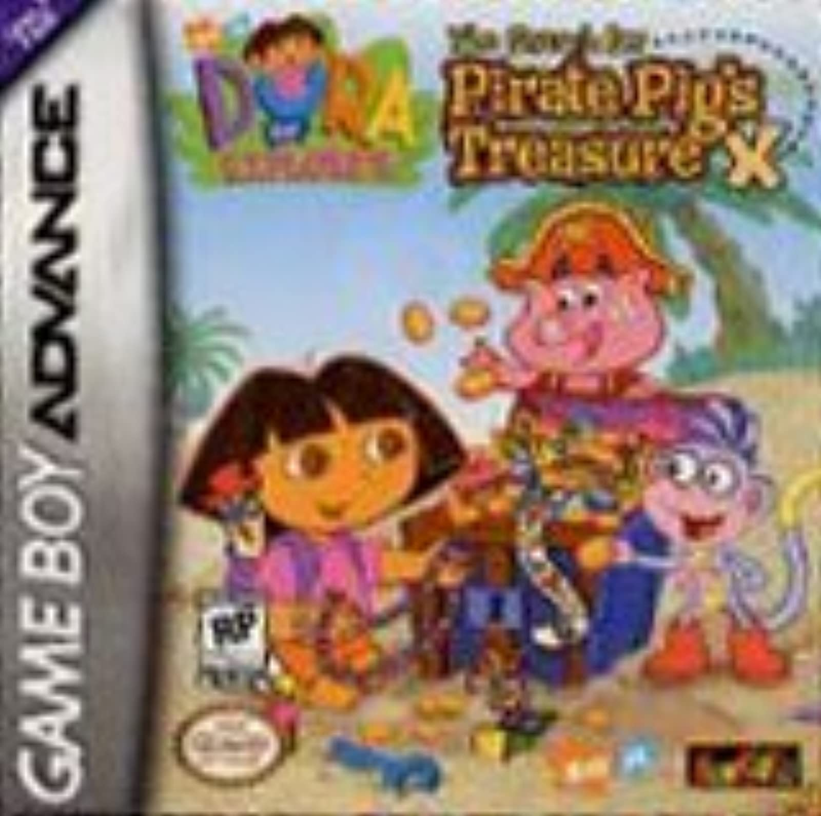 Dora The Explorer The Search For Pirate Pig's Treasure For GBA Gameboy