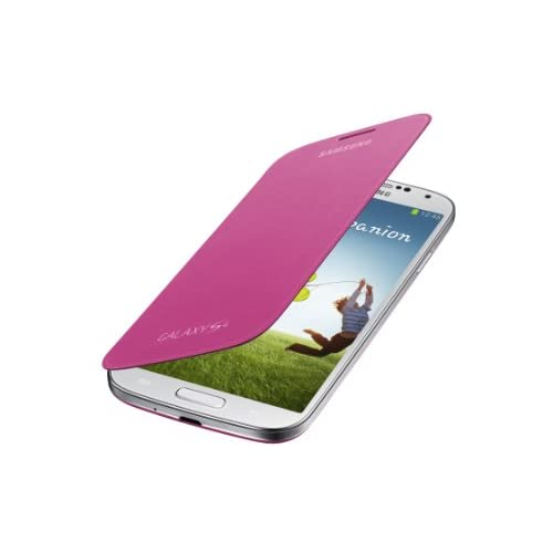 Image 0 of Samsung Galaxy S4 Flip Cover Folio Case Pink Fitted EF-F1950BPESTA