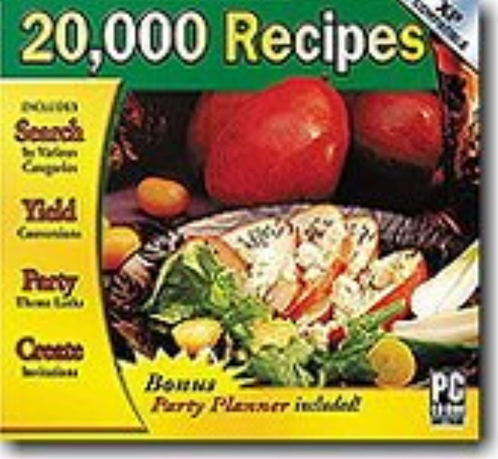 Cosmi 20 000 Recipes With Party Planner Windows Software