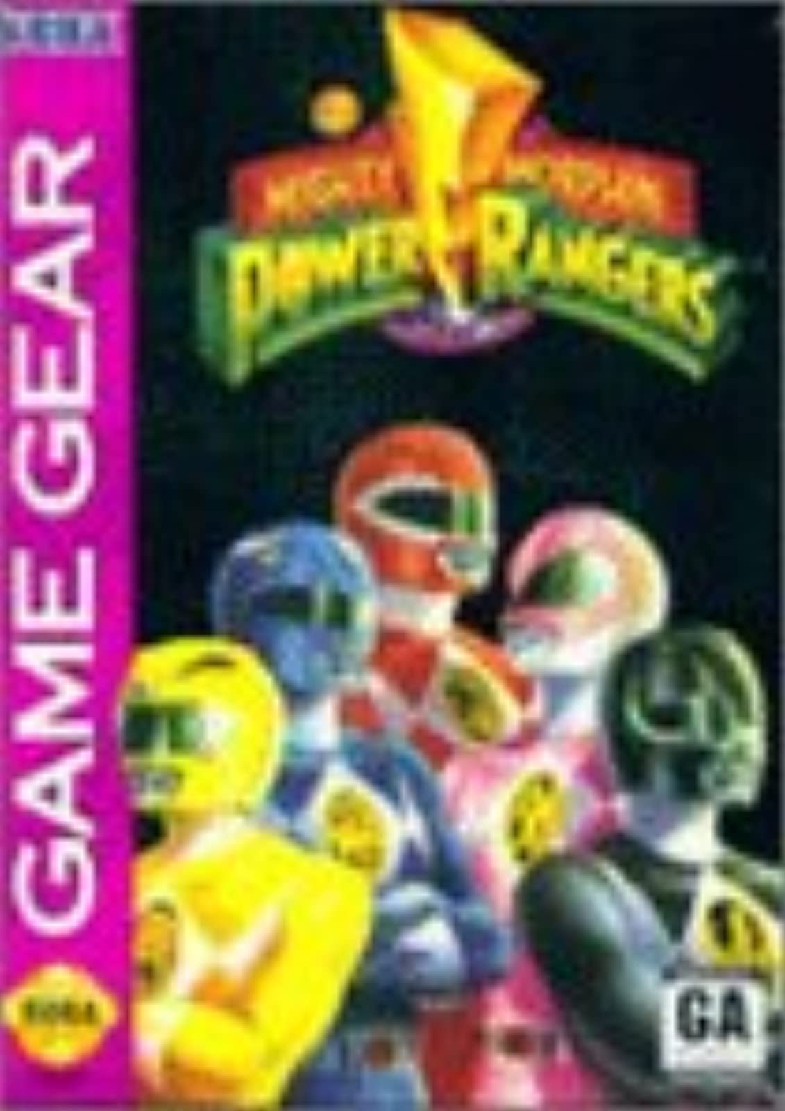 Mighty Morphin' Power Rangers For Sega Game Gear Vintage
