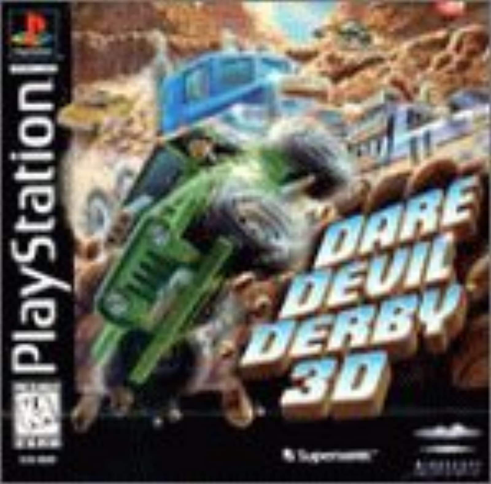 Dare Devil Derby 3D: For PlayStation 1 PS1 Racing