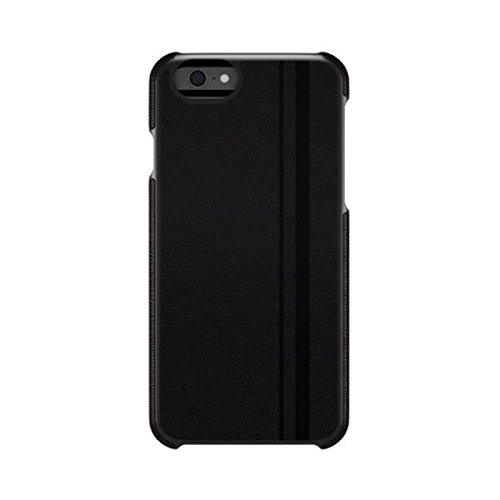 AGENT18 iPhone 6 Racing Stripe Black Vegan Leather Case Cover Fitted A