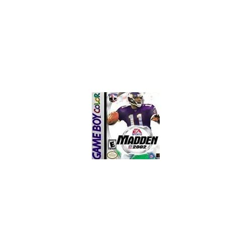 Madden NFL 2002 On Gameboy Color Football