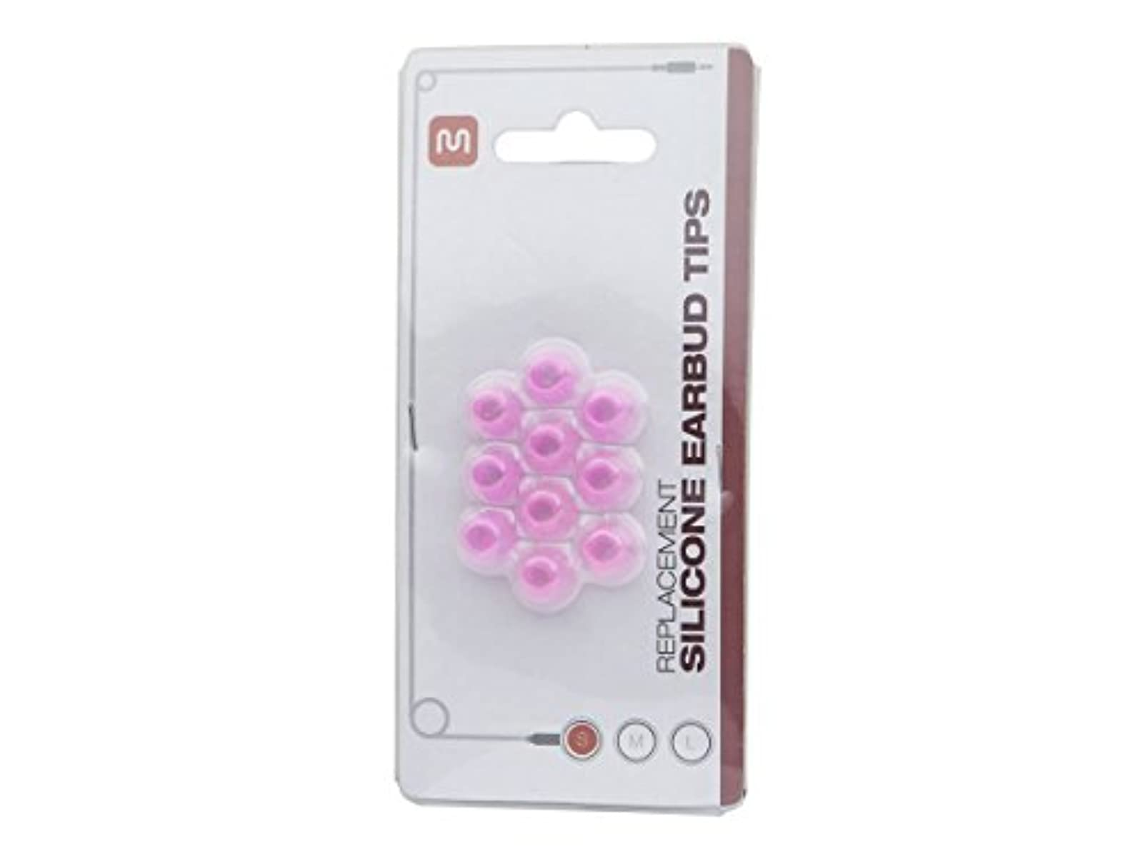 11901 Replacement Silicone Eartips For Most Earbuds-In-Ear Earphones-Pink Small