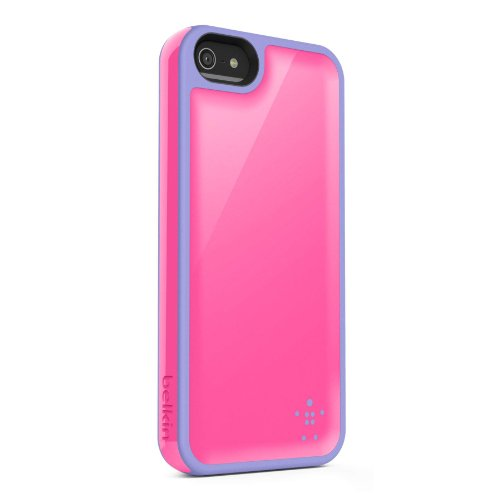 Belkin Grip Max Case Cover For iPhone 5 5S SE Pink / Lavender Fitted