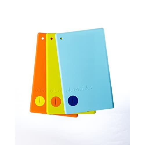 Oioo Tablet Color Backs 3 Pack Case Cover