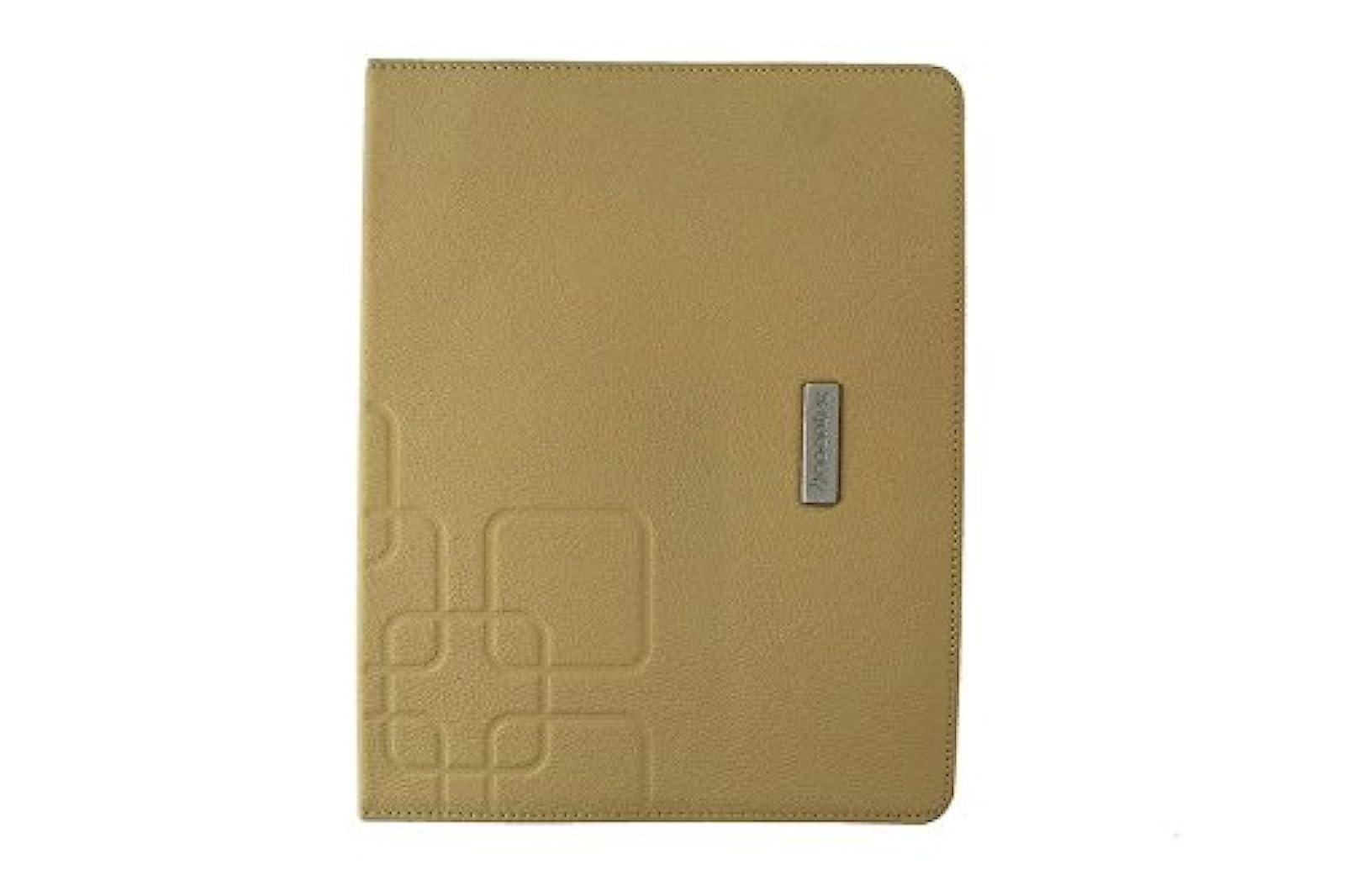 NoonTec GAZE2-BGE Soft Baby Calf Leather Folio Case For iPad 2 & iPad Beige Cove