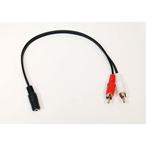 3.5MM Female Jack To 2 RCA Male Plug Audio Y Splitter Cable A/v Xbox 3