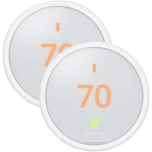 2 Pack Home Thermostat T4000ES Learning Thermostat E White