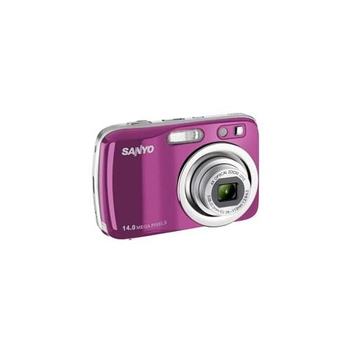 Sanyo VPC-S1414 14MP Digital Camera Pink