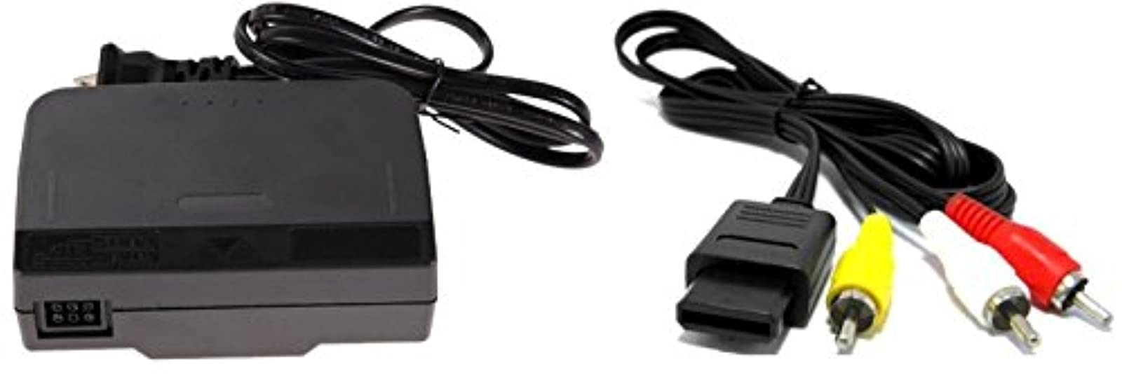 Video Game Accessories AC Adapter Power Supply & AV Cable Cord For