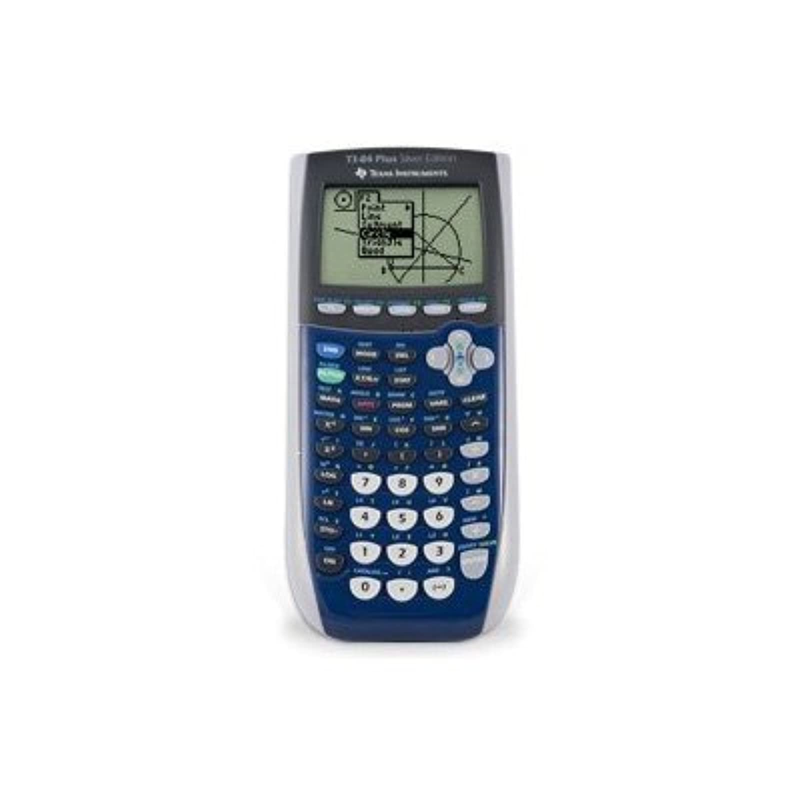 Texas Instruments Inc TI-84 Plus Silver Edition Blue Graphing Calculator