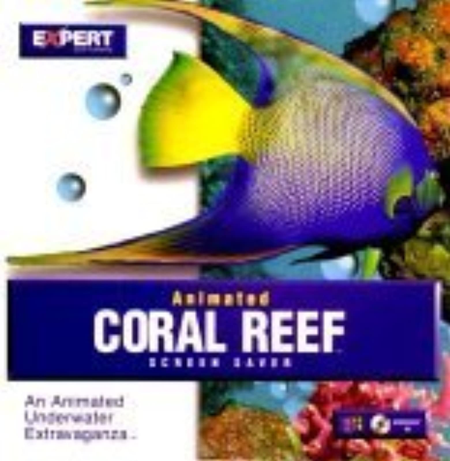 Animated Coral Reef Screen Saver On Audio CD Album Software