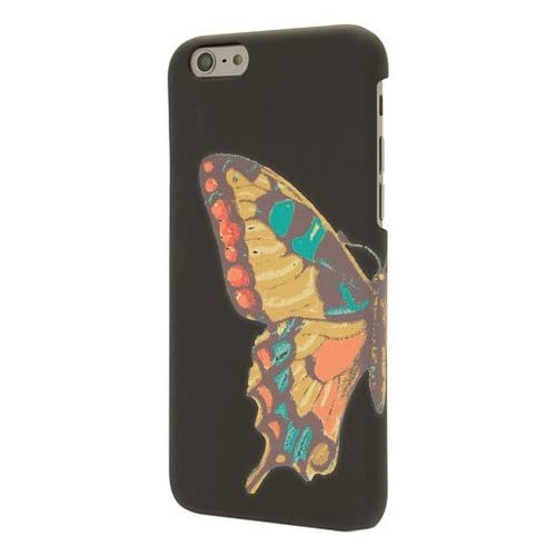 End Scene Black With Butterfly Case Cover 6 6S
