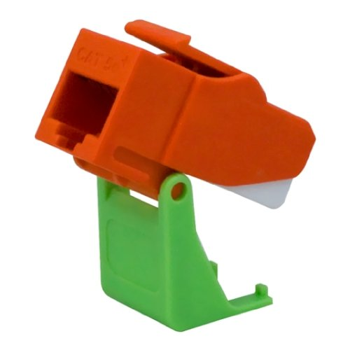 Image 0 of On-Q WP3550OR Snap And Go Cat 5E Keystone Connector Orange