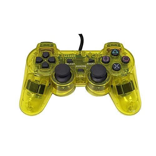 Image 1 of Replacement Controller Transparent Yellow For PlayStation 2