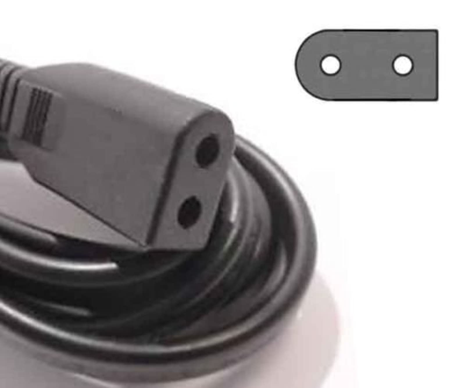 AC Power Cord Solid 2 Prong For Sony And More
