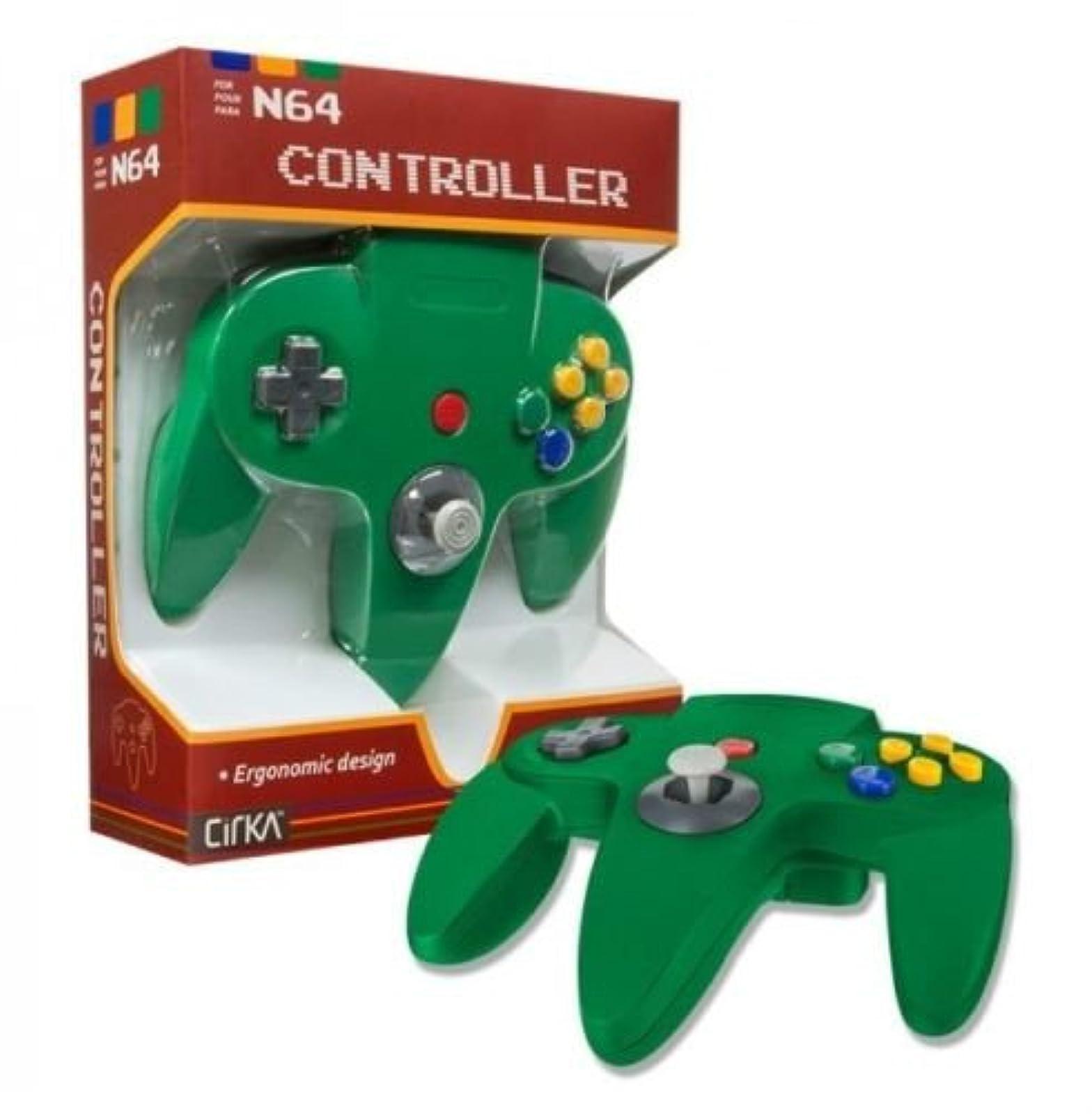Controller For Nintendo 64 Green N64 Joypad