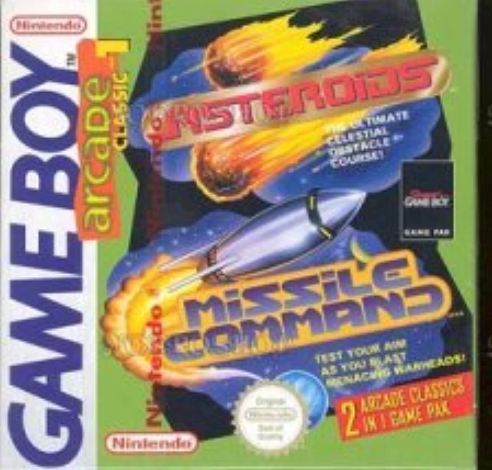Arcade Classic #1 Asteroids Missile Command On Gameboy