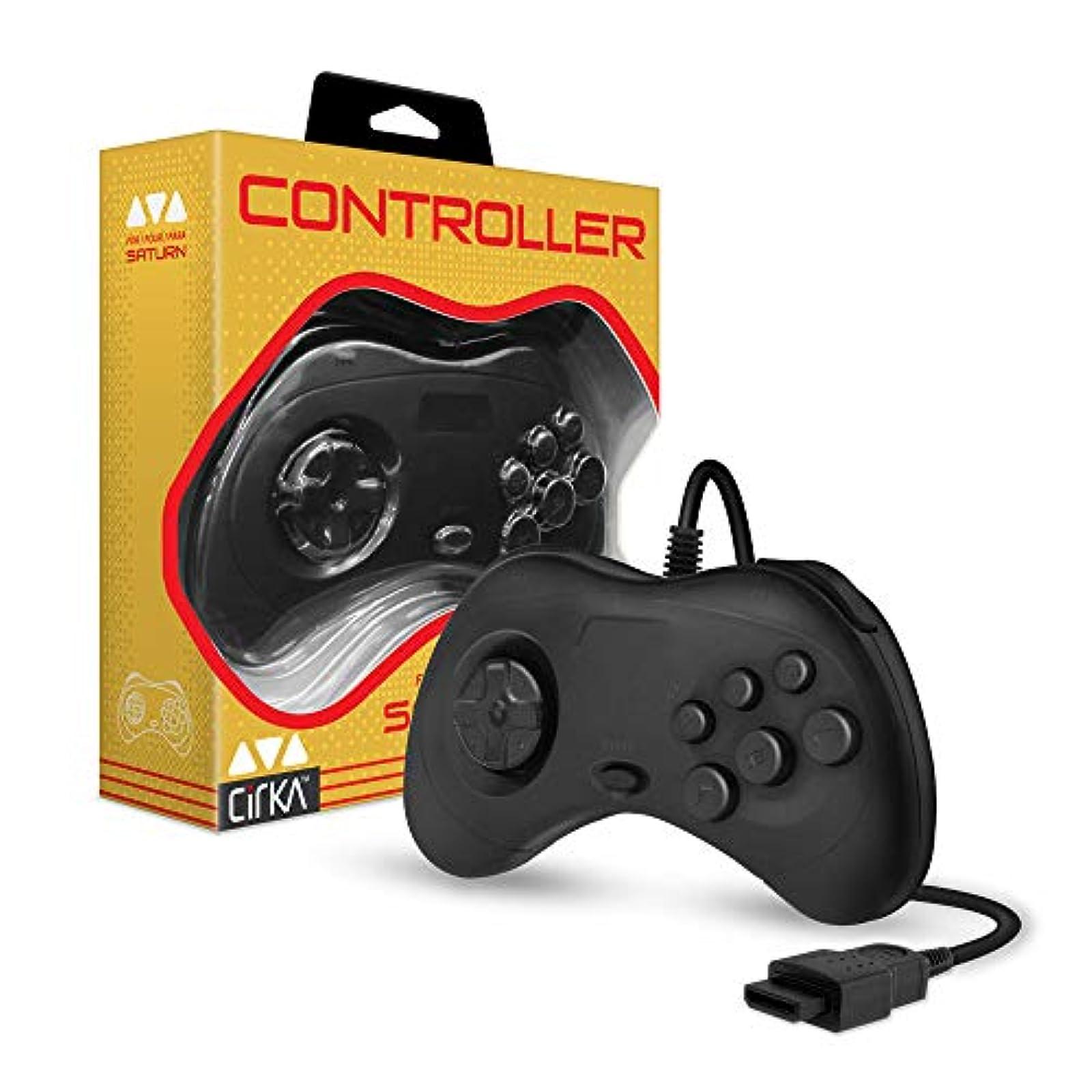 Cirka Controller For Saturn Black For Sega Saturn Vintage