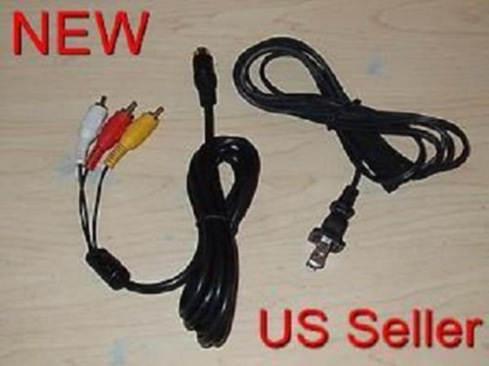 AC Power Cord Stereo AV Audio Video RCA Composite Cable For Sega