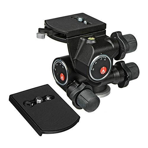 Manfrotto 410 Junior Geared Tripod Head With Quick Release And A Zaykir Quick Re