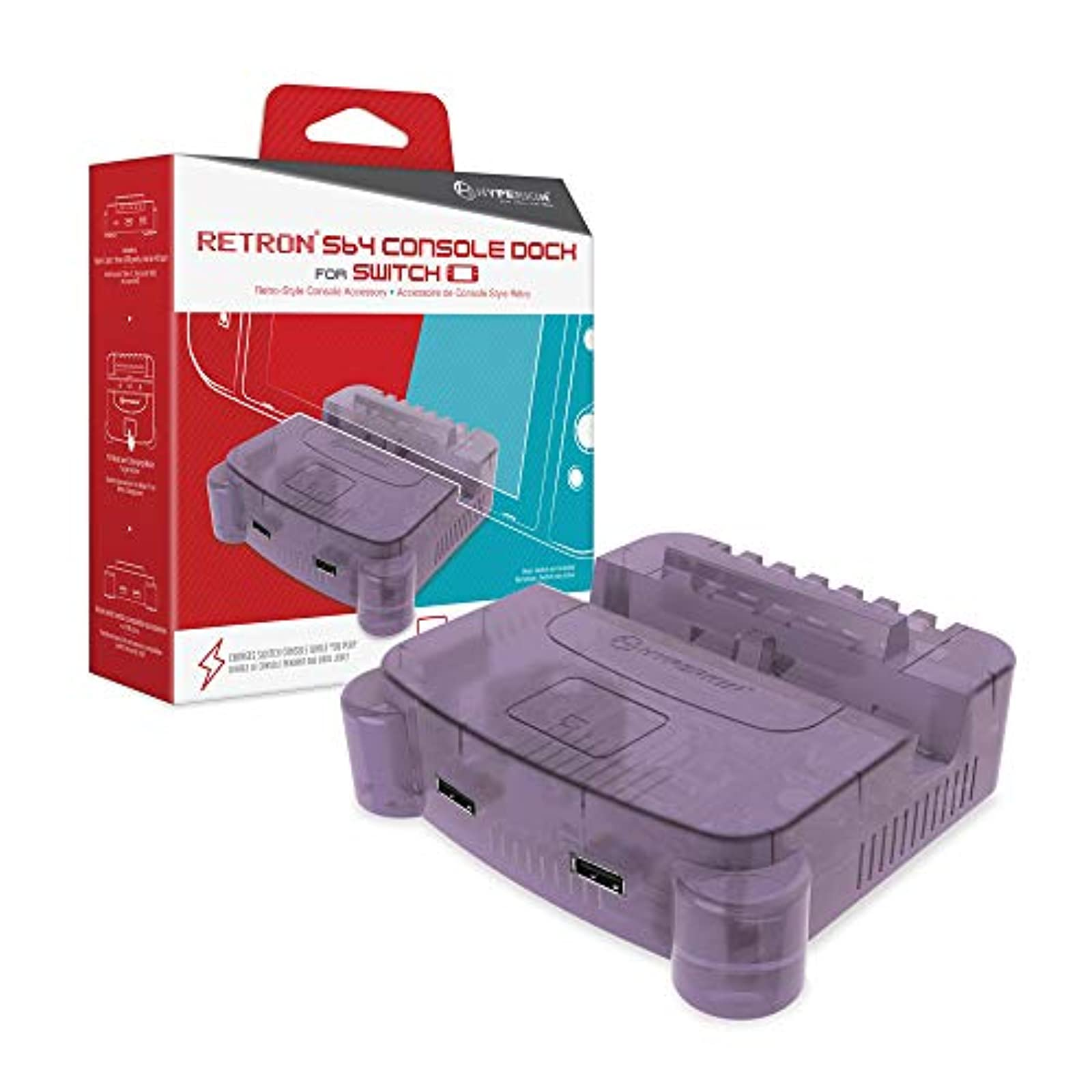 Hyperkin Retron S64 Console Dock For Nintendo Switch Purple