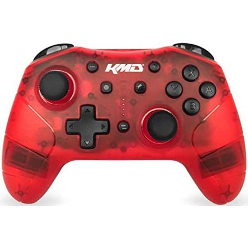 KMD Switch Wireless Pro Controller Clear Red For Nintendo Switch