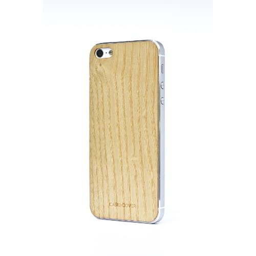Casencover Veneer Skin With Screen Protector For iPhone 5 5S SE Ash Case Cover B