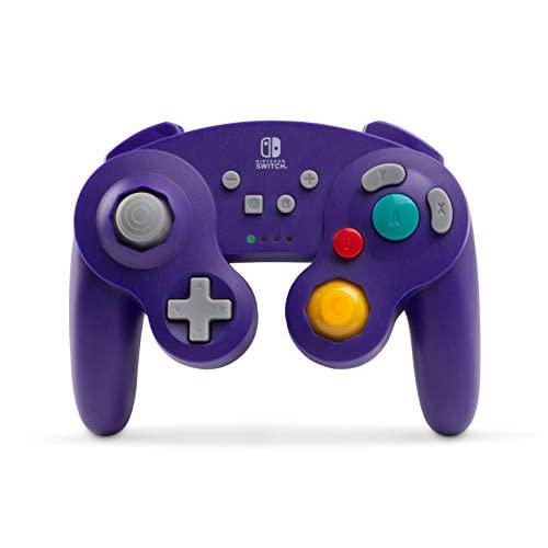Image 0 of PowerA Wireless GameCube Style Controller For Nintendo Switch Purple Gamepad