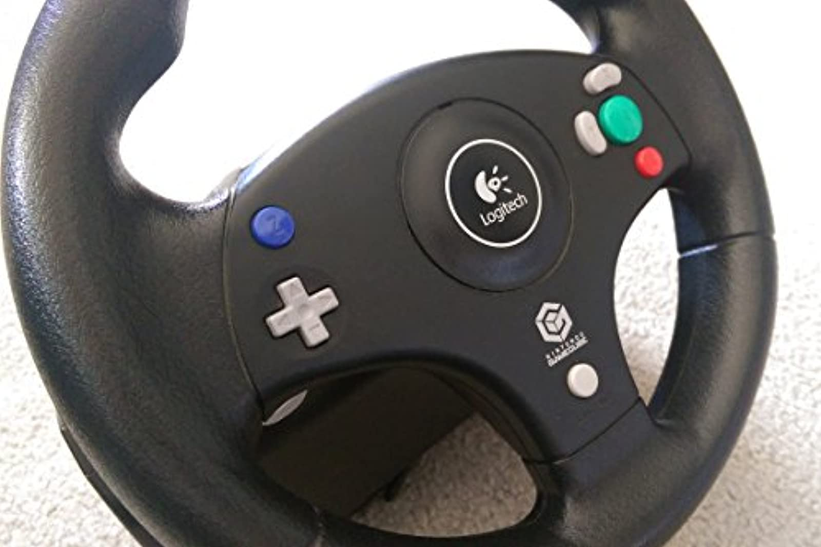 Logitech Speed Force Wheel For With Force Feedback For GameCube