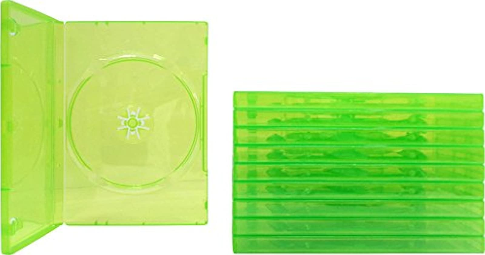 Image 0 of 10 Empty Standard Xbox 360 Translucent Green Replacement Games Boxes / Cases