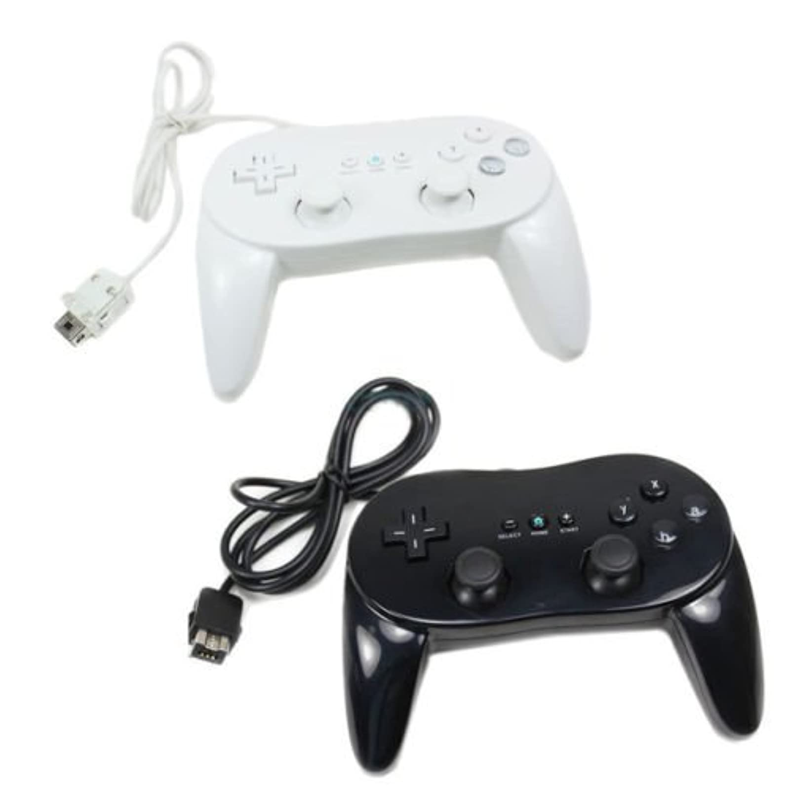 2 X New Classic Pro Remote Controller For Black And White US Ship For Wii