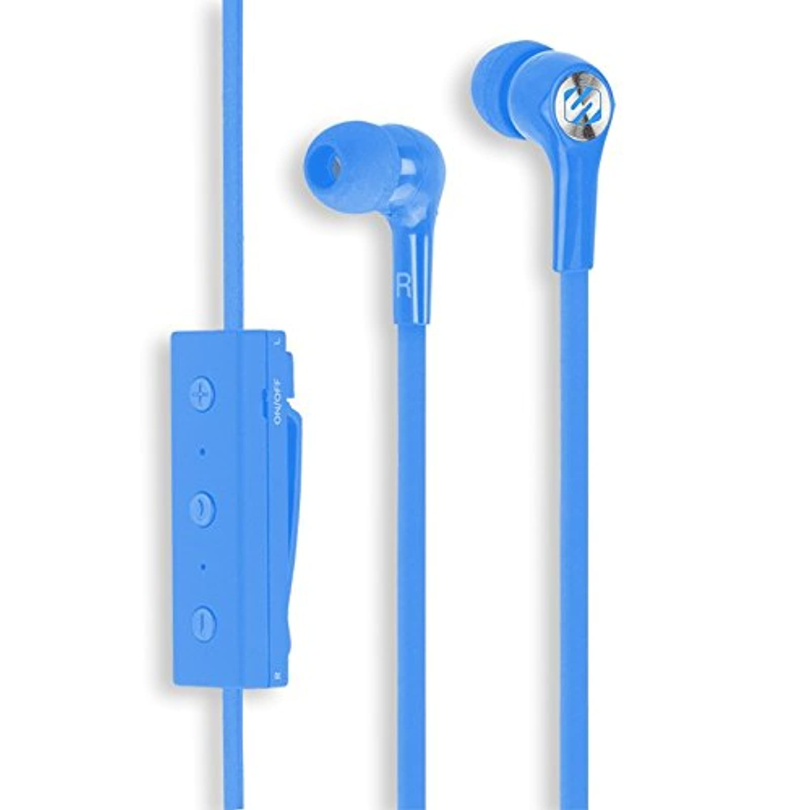 Scosche BT100BL Rechargeable Bluetooth Wireless Earbuds With Microphone Music He