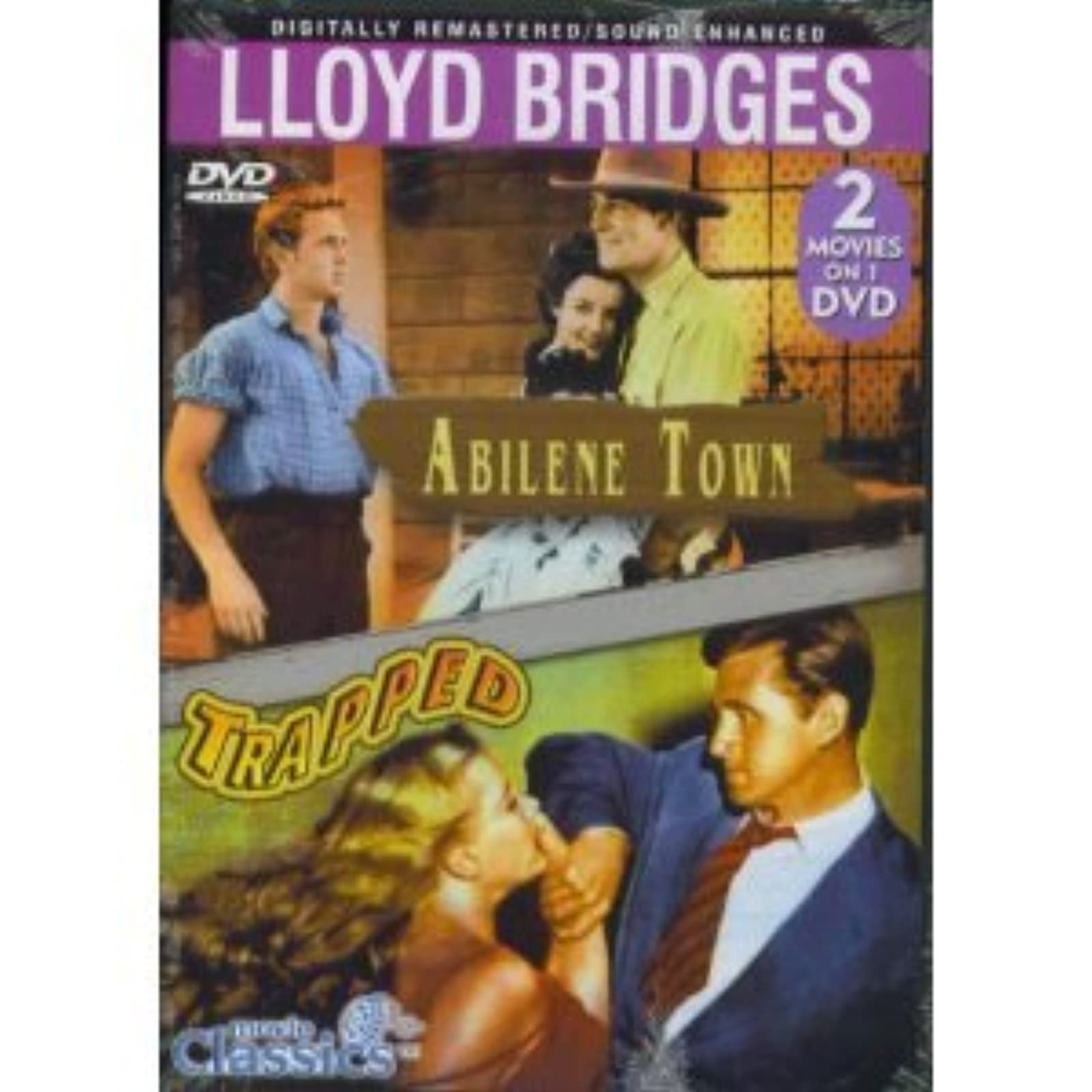 Abilene Town / Trapped Double Feature On DVD With Lloyd Bridges