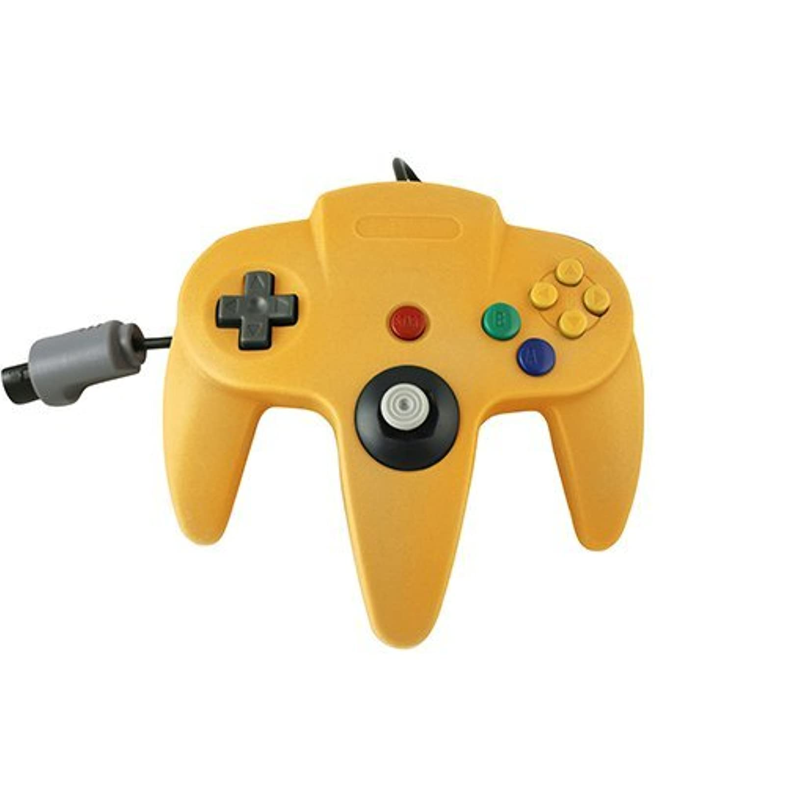 Generic Nintendo 64 Wired Classic Controller Yellow For N64