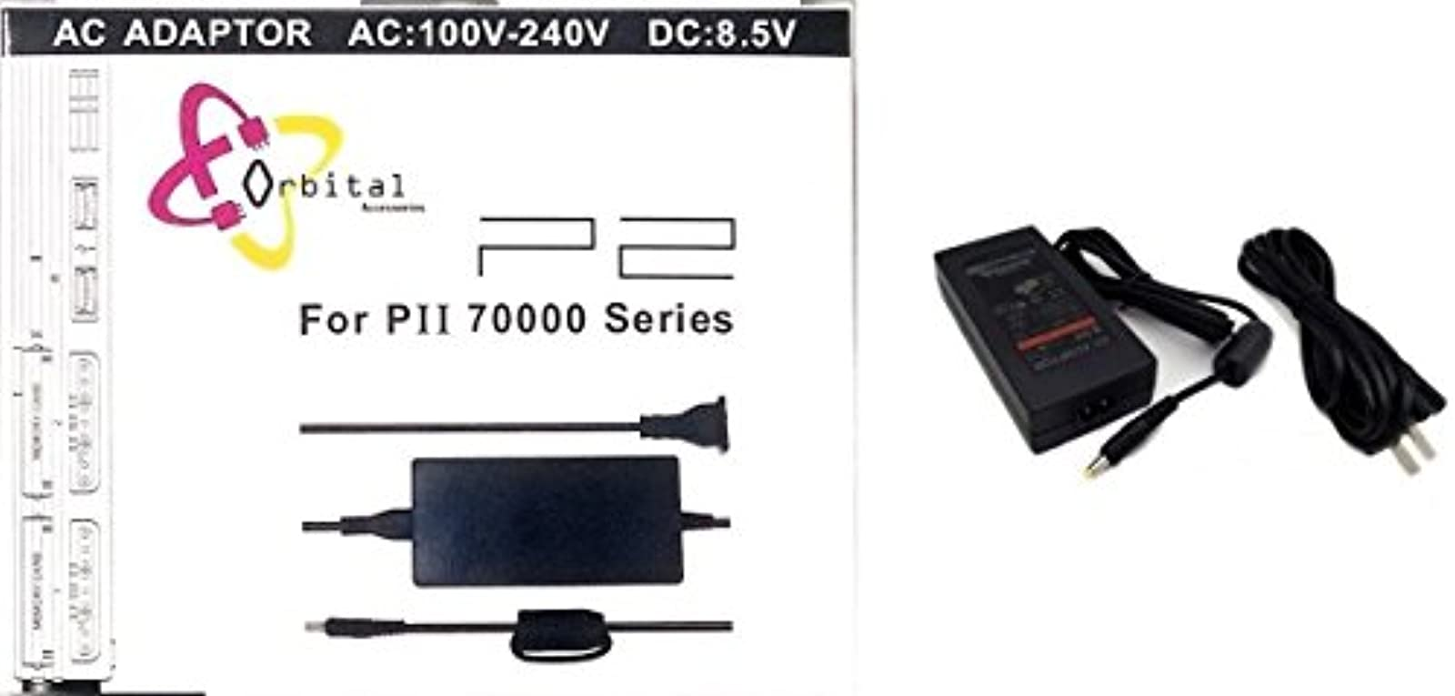 AC Adapter Charger Power Cord Supply For Sony PS2 Slim Black