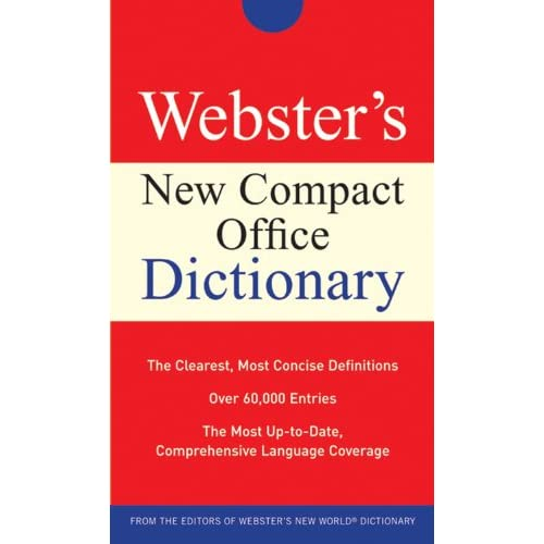Image 0 of Webster's New Compact Office Dictionary By Agnes Michael E Paperback