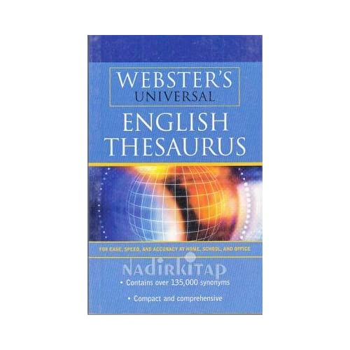 Webster's Universal English Thesaurus Book Paperback