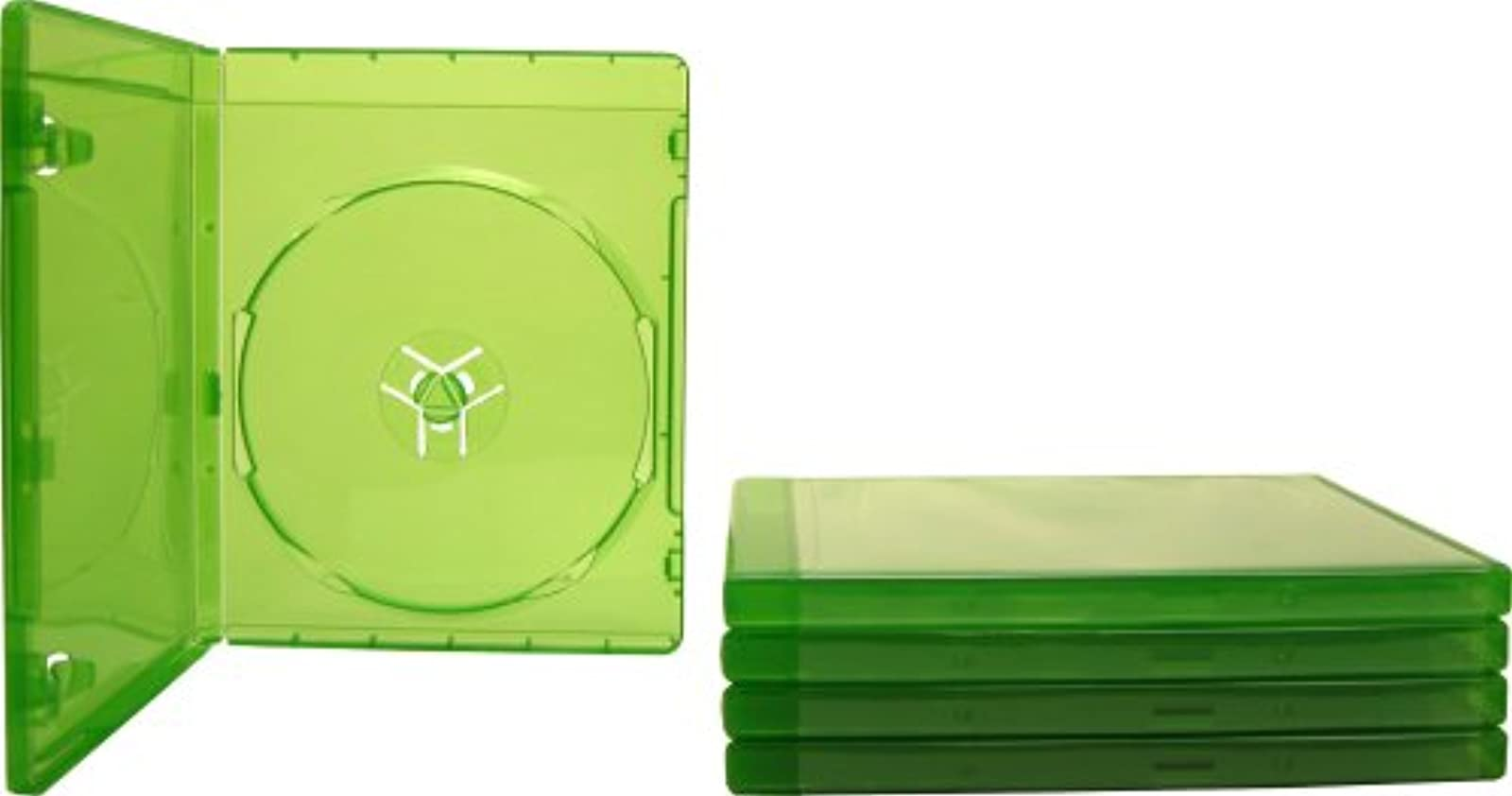5 Xbox One Translucent Green 12MM Replacement Game Cases