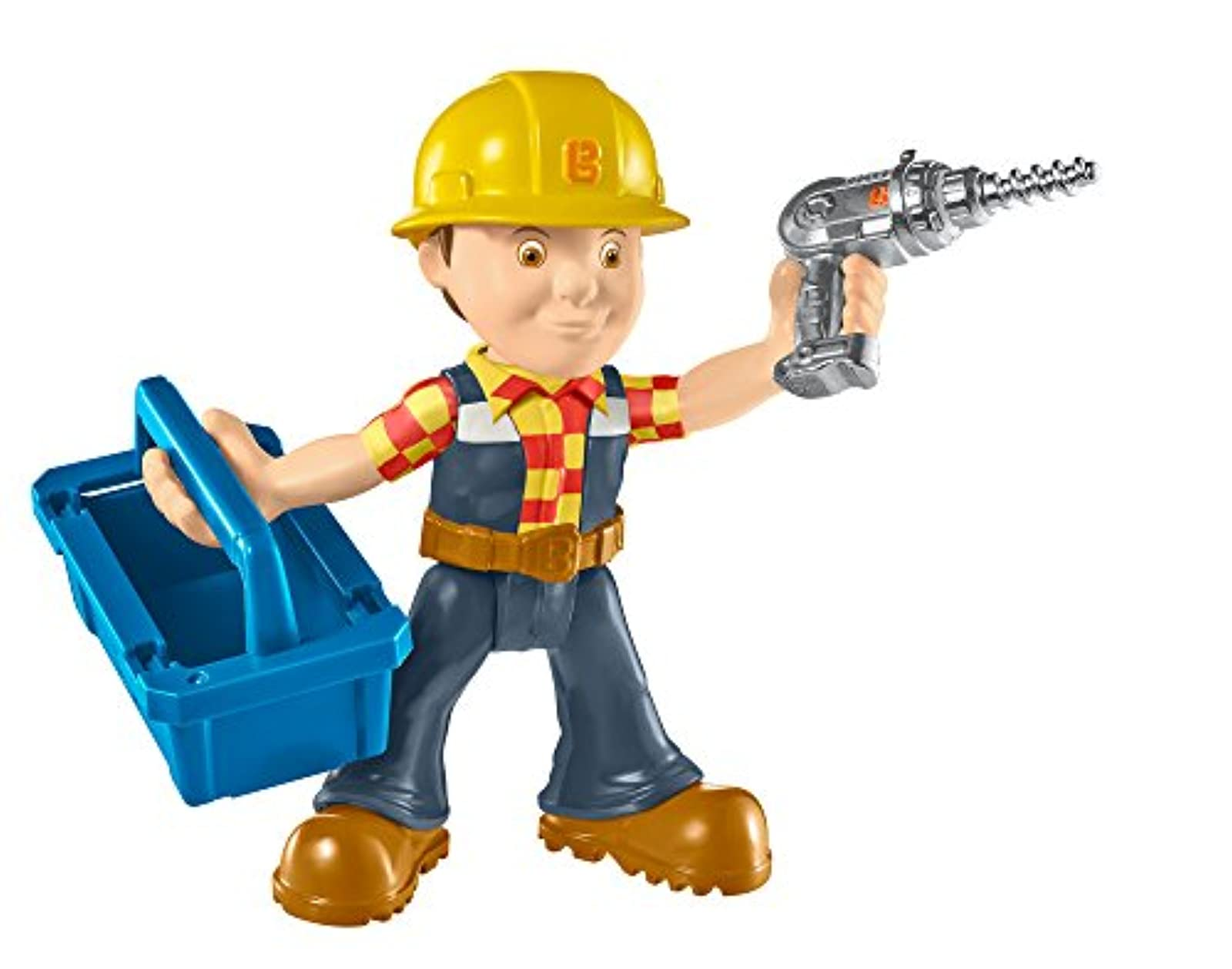 Fisher-Price Bob The Builder Repair And Build Bob Toy Blue Action QIL439