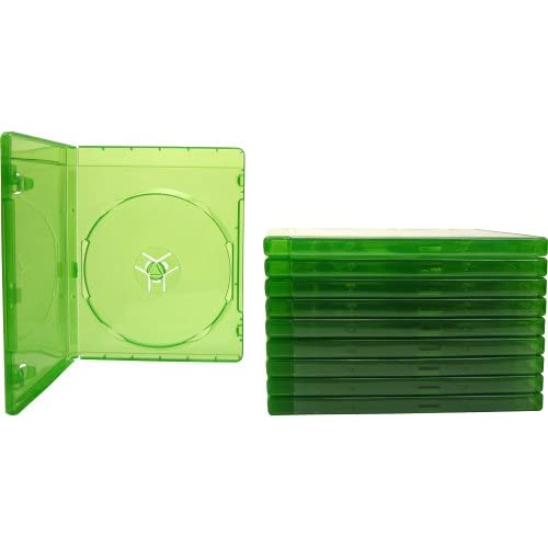 10 Xbox One Translucent Green 12MM Replacement Game Cases