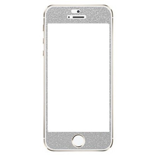 Agent 18 Decorative Screen Protector For iPhone 5/5S/5C Silver Glitter
