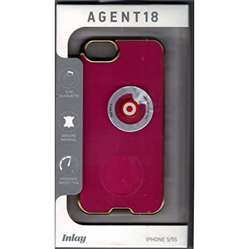 AGENT18 Cell Phone Case For iPhone 5 5S SE Pink/gold Rims Cover