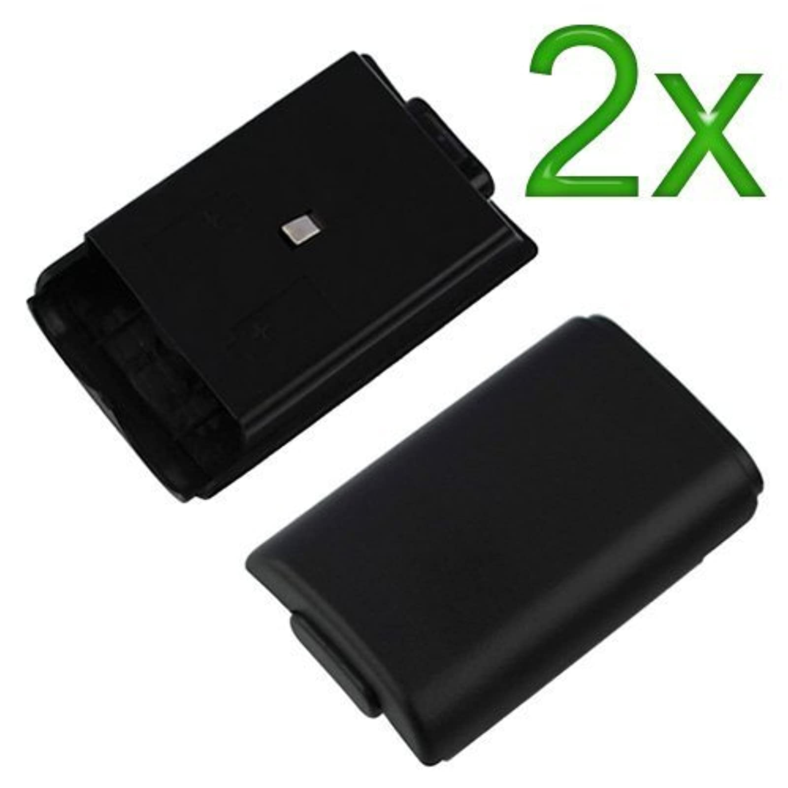2X Black Battery Cover For Microsoft For Xbox 360 Protective